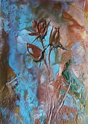 Brunch Painting Prints - Antik Rose Print by Liz Naepflin