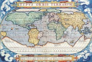 Antiquated Drawings Prints - Antiquated World Map Print by Pg Reproductions