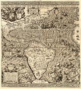 Antique America Map Print by Gary Grayson