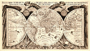 Antique Digital Art Prints - Antique Astronomical Map Print by Gary Grayson