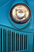 Headlight Metal Prints - Antique Automobile Headlamp Metal Print by Carol Leigh