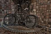 Byzantine Photo Metal Prints - Antique Bicycle Metal Print by Susan Candelario