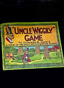 Board Game Posters - Antique Board Game Uncle Wiggily Poster by Valerie Garner