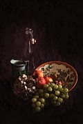 Hugo Bussen - Antique bowl with grapes...