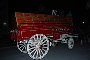Edison Posters - Antique budweiser beer wagon Poster by Robert Floyd