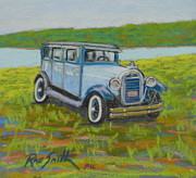 Graves Pastels - Antique Car Graves Island by Rae  Smith PSC