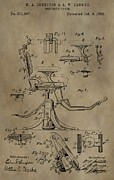 Antique Dental Chair Patent Print by Dan Sproul