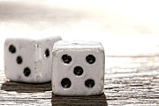 Game Photo Prints - Antique Dice Print by Olivier Le Queinec