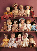 Shelves Photo Prints - Antique Dolls Print by Anne Geddes