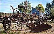Antique Farm Equipment End Of Row Print by Lee Craig