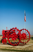 Rusty Tractor Tires Acrylic Prints - Antique Farm Tractor 1 Acrylic Print by Douglas Barnett