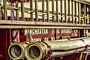 Brass Fittings Framed Prints - Antique Fire Apparatus Framed Print by Jim Lepard