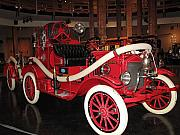 Barbara Mcdevitt Framed Prints - Antique Fire Engine Framed Print by Barbara McDevitt
