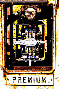 Gold Mine Prints - Antique Gas Pump Print by  Onyonet  Photo Studios