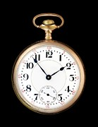 Mechanism Photo Prints - Antique Gold Pocketwatch Print by Jim Hughes