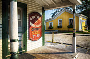 Grocery Store Prints - Antique Grocery Store Sign Print by George Oze