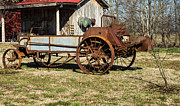 Antique Hay Bailer 1 Print by Douglas Barnett