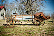 Antique Hay Bailer 3 Print by Douglas Barnett