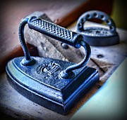 Folk Art Photos - Antique Iron by Paul Ward