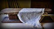 Primitive Art Prints - Antique Ironing Board Print by Paul Ward