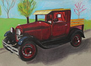 Trucks Pastels - Antique by Jeanne Fischer