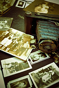 Basketball Prints - Antique Kodak Camera and Vintage Photographs Print by Amy Cicconi