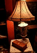 Vermont Country Store Posters - Antique Lamp Poster by Donna Cavanaugh