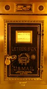 Antique Letter Box At The Brown Palace Hotel Print by John Malone