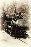 Iron Rail Framed Prints - Antique Locomotive Framed Print by Jane Rix