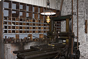 Oil Lamp Photos - Antique Machine Shop by Sally Weigand