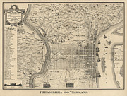 Antique Map Of Philadelphia By P. C. Varte - 1875 Print by Blue Monocle