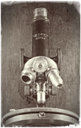 Microscope Framed Prints - Antique Microscope Framed Print by Garry McMichael