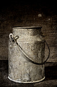 Can Prints - Antique Milk Bucket Print by John Stephens