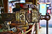 Strength Photo Posters - Antique Monarch Cast Iron Bench Vise  Poster by Paul Ward