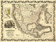Antique North America Map Print by Gary Grayson