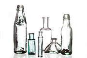 Old Glass Prints - Antique Old Bottles Print by Dirk Ercken