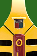 Bold Colors Prints - Antique Oliver Tractor Print by Tom Mc Nemar