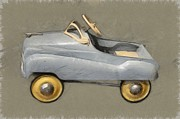 Hubcaps Digital Art - Antique Pedal Car ll by Michelle Calkins