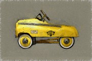 Yellow Taxis Framed Prints - Antique Pedal Car lll Framed Print by Michelle Calkins