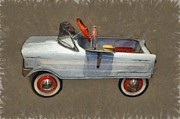 Hubcaps Digital Art - Antique Pedal Car lV by Michelle Calkins