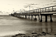 Great Pyrography - Antique Photo of Anglins Pier - Florida by Eyzen Medina