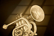 Matte Print Prints - Antique Pocket Trumpet Print by M K  Miller