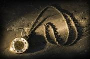 Artifact Photos - Antique Pocket Watch On Chain by Corey Hochachka