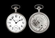 Time Works Framed Prints - Antique Pocketwatch Framed Print by Jim Hughes
