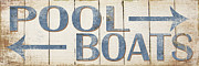 Grace Pullen - Antique Pool Boat Sign