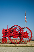 Rusty Tractor Tires Acrylic Prints - Antique Red Tractor 2 Acrylic Print by Douglas Barnett