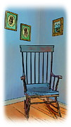 Old Digital Art Originals - Antique Rocking Chair by Harold Bonacquist