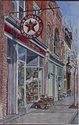 Brick Building Painting Framed Prints - Antique Shop Beacon New York Framed Print by Anthony Butera