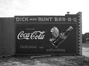 Coca-cola Mural Prints - Antique Sign Print by Ann Powell
