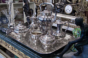 Sterling Silver Art - Antique silver Tea set by Gunter Nezhoda